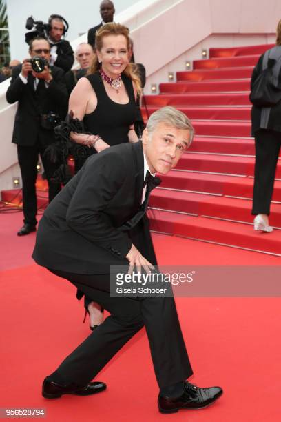 """Actor Christoph Waltz and Artistic Director and Co-President of Chopard Caroline Scheufele attends the screening of """"Yomeddine"""" during the 71st..."""