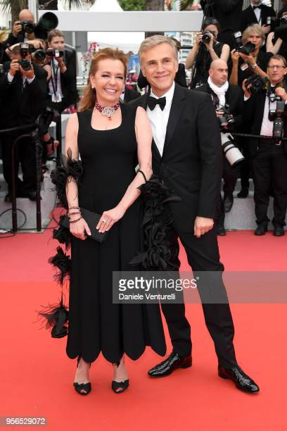 Actor Christoph Waltz and artistic Director and CoPresident of Chopard Caroline Scheufele attends the screening of Yomeddine during the 71st annual...