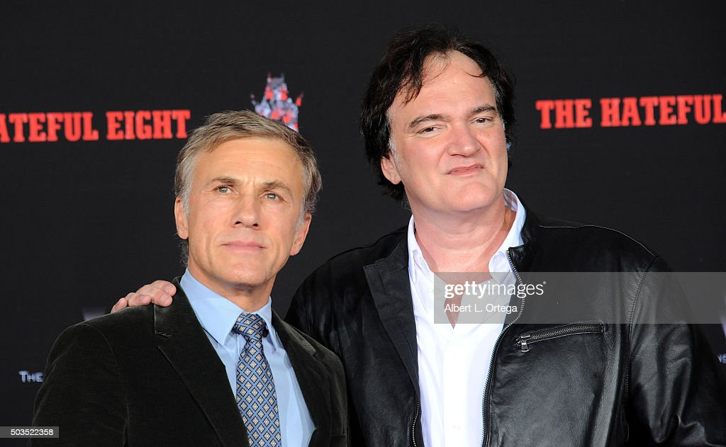 Actor Christoph Waltz and director Quentin Tarantino at Quentin Tarantino's Hands and Footprints Ceremony held at TCL Chinese Theatre on January 5, 2016 in Hollywood, California.