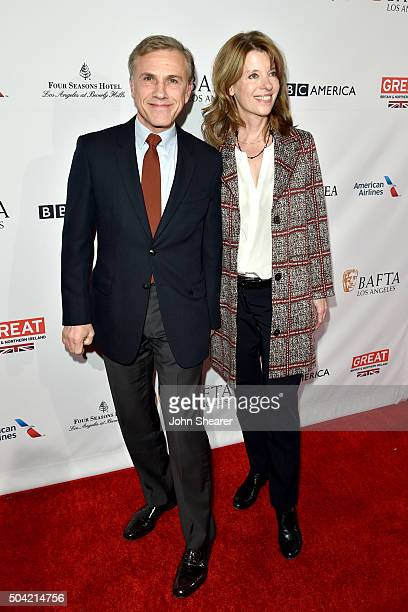 Actor Christoph Waltz and Judith Holste attend the BAFTA Awards Season Tea Party at Four Seasons Hotel Los Angeles at Beverly Hills on January 9 2016...