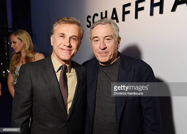 Actor Christoph Waltz and TFF cofounder Robert De Niro attend the IWC Schaffhausen Third Annual For the Love of Cinema Gala during the Tribeca Film...