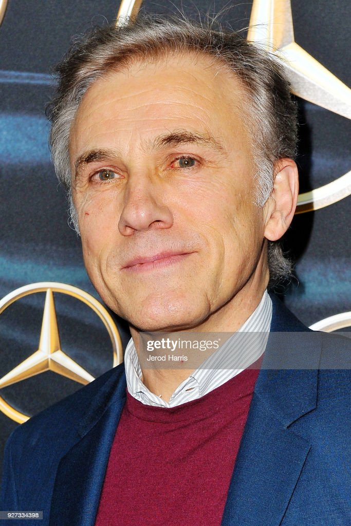 Actor Christoph Waltz arrives at Mercedez-Benz USA's Official Awards Viewing Party at Four Seasons Hotel on March 4, 2018 in Beverly Hills, California.