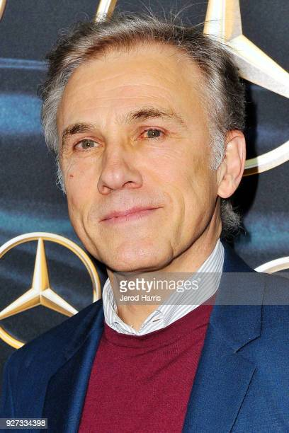 Actor Christoph Waltz arrives at MercedezBenz USA's Official Awards Viewing Party at Four Seasons Hotel on March 4 2018 in Beverly Hills California
