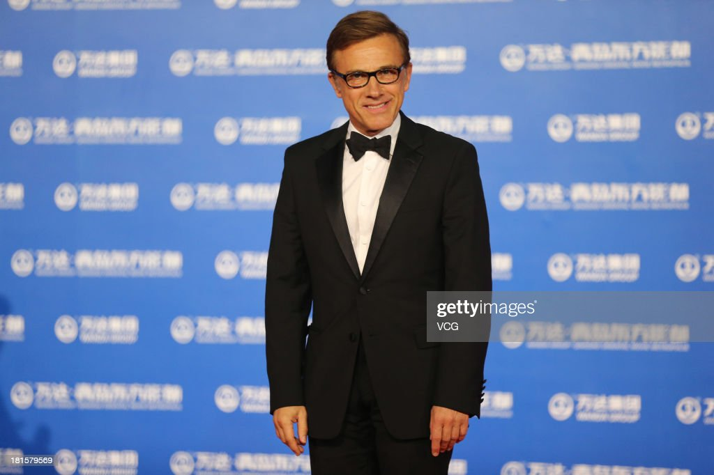 Actor Christoph Waltz arrives on the red carpet during the opening night of the Qingdao Oriental Movie Metropolis at Qingdao Beer City on September 22, 2013 in Qingdao, China.