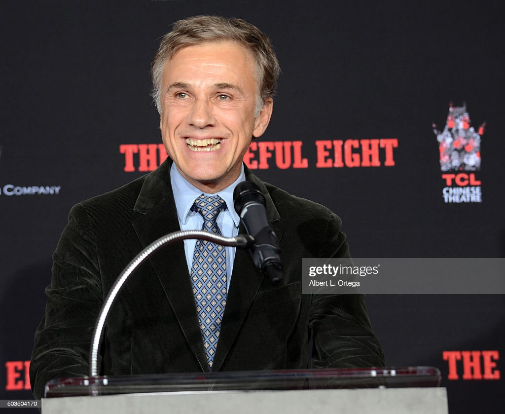 Actor Christoph Waltz at Quentin Tarantino's hands and footprints ceremony held at TCL Chinese Theatre on January 5, 2016 in Hollywood, California.