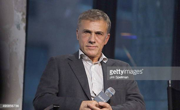 Actor Christoph Waltz attends AOL BUILD Series Presents 'Spectre' at AOL Studios In New York on November 5 2015 in New York City