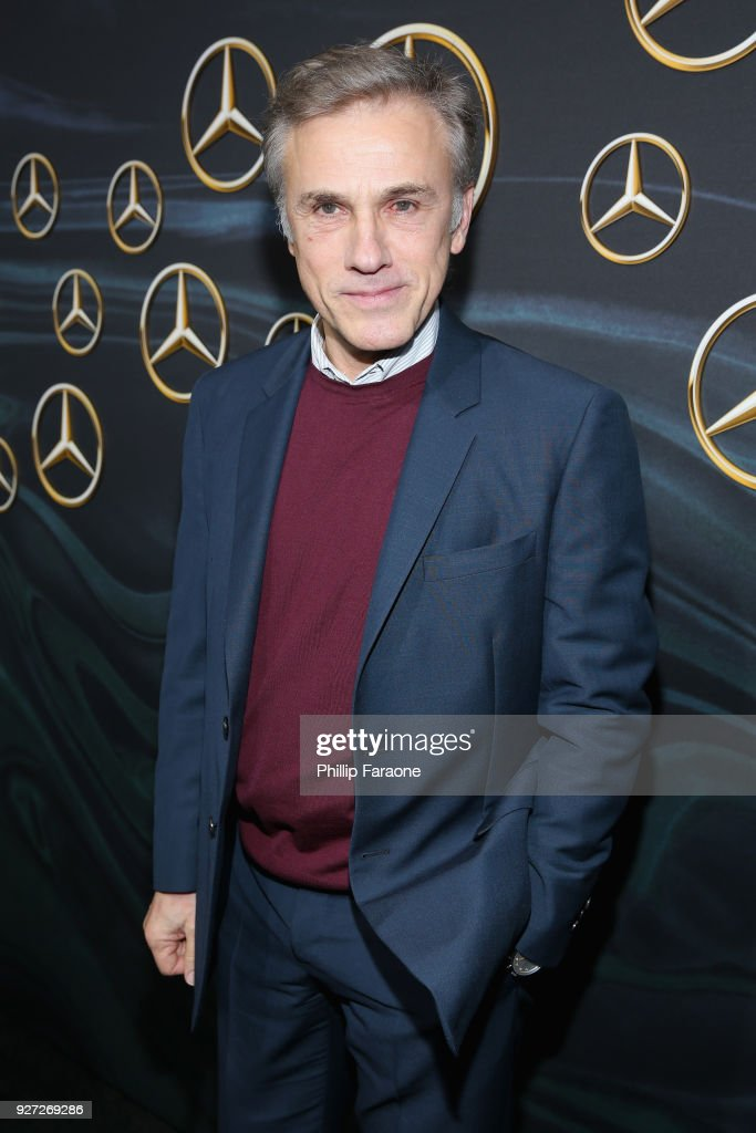 Actor Christoph Waltz attends Mercedes-Benz USA Official Awards Viewing Party at Four Seasons, Beverly Hills, CA on March 4, 2018 in Los Angeles, California.