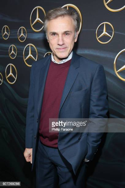 Actor Christoph Waltz attends MercedesBenz USA Official Awards Viewing Party at Four Seasons Beverly Hills CA on March 4 2018 in Los Angeles...