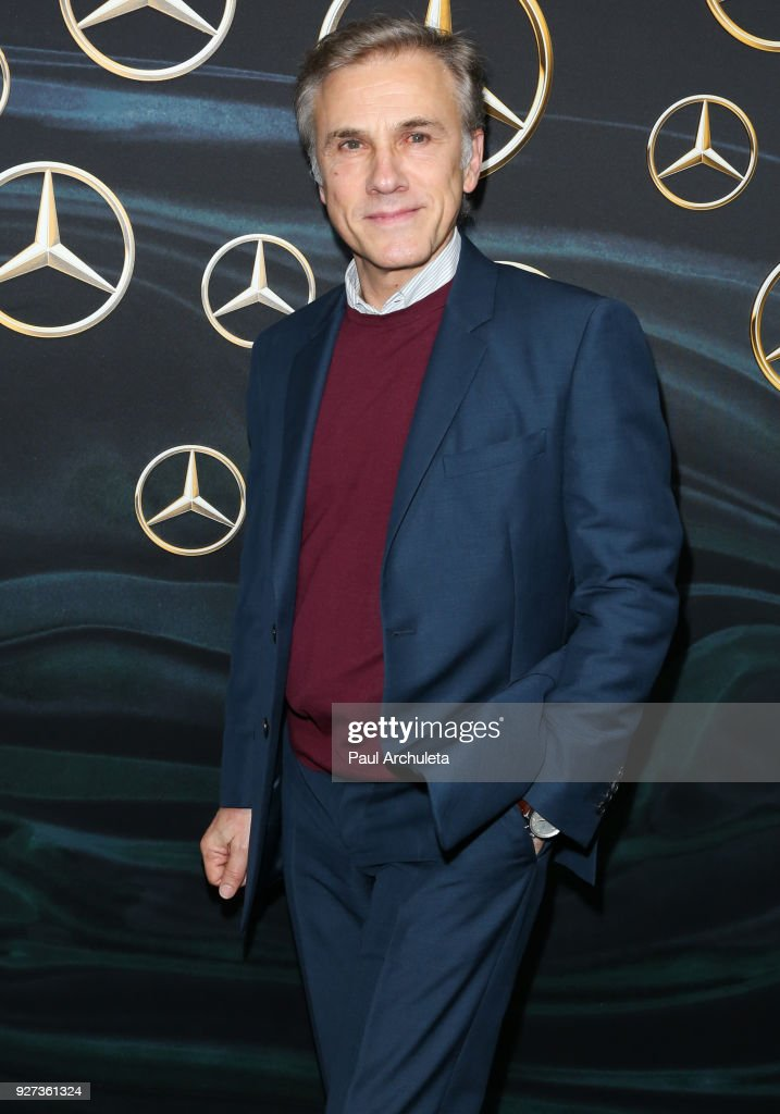 Actor Christoph Waltz attends Mercedez-Benz USA's official Awards viewing party at The Four Seasons Hotel Los Angeles at Beverly Hills on March 4, 2018 in Los Angeles, California.