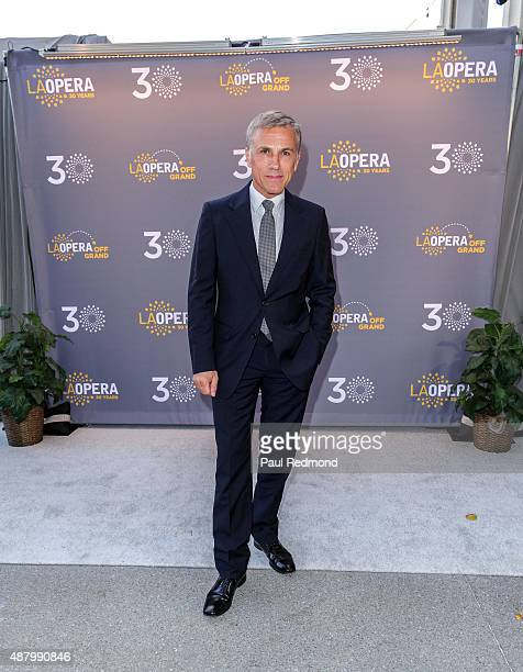 Actor Christoph Waltz attends LA Opera's 30th Anniversary Season Opening Night at Dorothy Chandler Pavilion on September 12 2015 in Los Angeles...