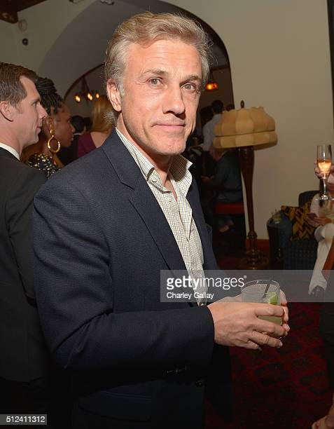 Actor Christoph Waltz attends the Cadillac Oscar Week Celebration at Chateau Marmont on February 25 2016 in Los Angeles California