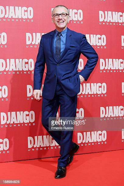 Actor Christoph Waltz attends the 'Django Unchained' premiere at Cinema Adriano on January 4 2013 in Rome Italy