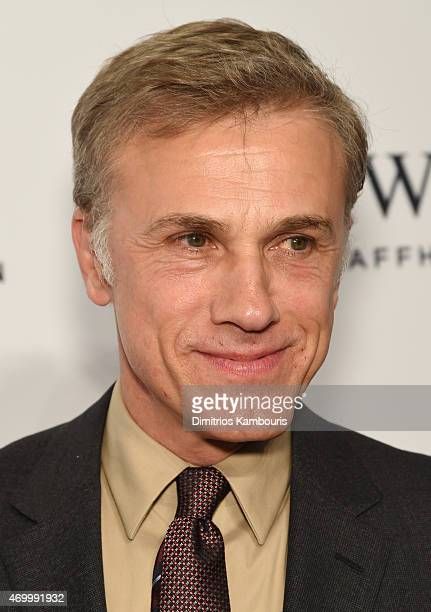 Actor Christoph Waltz attends the IWC Schaffhausen Third Annual For the Love of Cinema Gala during the Tribeca Film Festival on April 16 2015 in New...