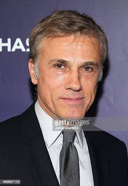 Actor Christoph Waltz attends the opening night of Finding Neverland at LuntFontanne Theatre on April 15 2015 in New York City