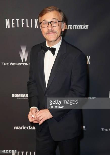 Actor Christoph Waltz attends The Weinstein Company Netflix's 2014 Golden Globes After Party presented by Bombardier FIJI Water Lexus Laura Mercier...