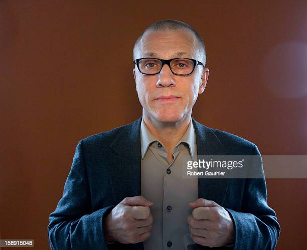 Actor Christoph Waltz is photographed for Los Angeles Times on December 18 2012 in Beverly Hills California