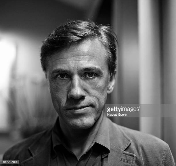 Actor Christoph Waltz is photographed for Self Assignment on October 9 2009 in Paris France