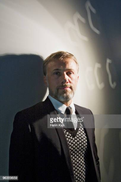 Actor Christoph Waltz poses at a portrait session for Black Book in Los Angeles CA on December 1 2010