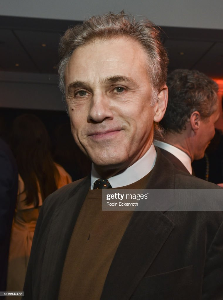 Actor Christoph Waltz poses for a portrait at The Oscars Foreign Language Film Award Directors Reception at the Academy of Motion Picture Arts and Sciences on March 2, 2018 in Beverly Hills, California.