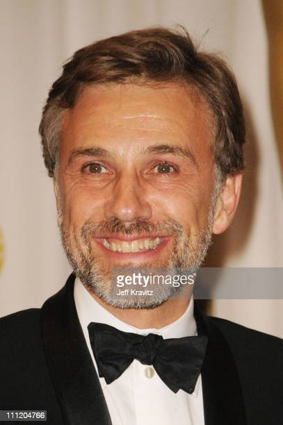 Actor Christoph Waltz poses in the press room at the 82nd Annual Academy Awards held at Kodak Theatre on March 7 2010 in Hollywood California
