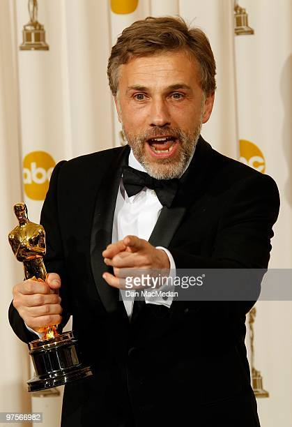 Actor Christoph Waltz winner for Best Supporting Actor for 'Inglorious Basterds' poses in the press room at the 82nd Annual Academy Awards held at...