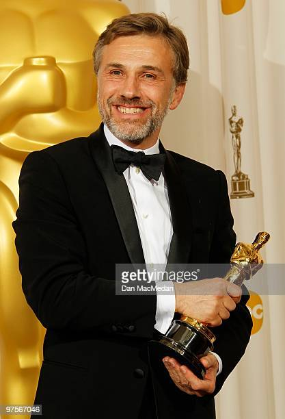 Actor Christoph Waltz winner for Best Supporting Actor for Inglorious Basterds poses in the press room at the 82nd Annual Academy Awards held at the...