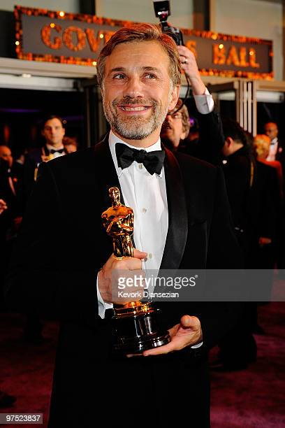 "Actor Christoph Waltz, winner of Best Supporting Actor award for ""Inglourious Basterds,"" attends the 82nd Annual Academy Awards Governor's Ball held..."