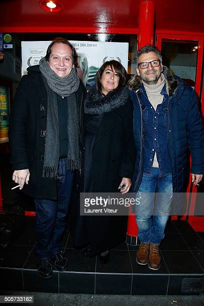 Actor Christophe Favre Actress Sophie Picciotto and Actor Patrick Mimoun attend Polish Hope Paris Screening At Cinema Grand Action on January 19 2016...