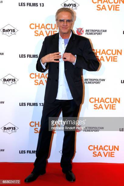 Actor Christophe Lambert attends the 'Chacun sa vie' Paris Premiere at Cinema UGC Normandie on March 13 2017 in Paris France