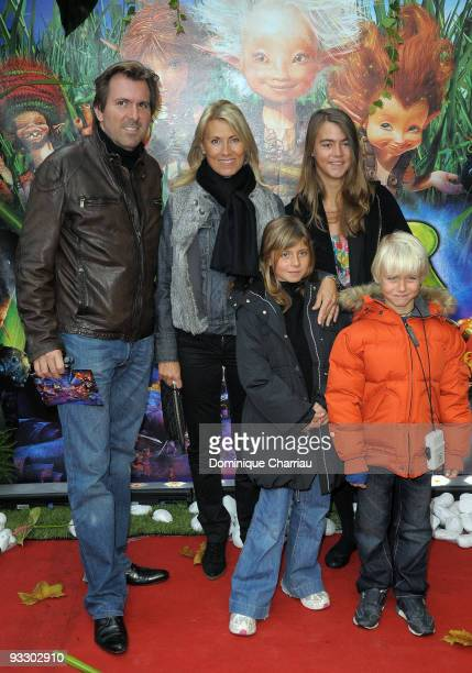 Actor Christophe Lambert bullfighter Marie Sara and their children Rebecca Lambert Sara Luna Leconte and Lalo Lambert attend the Paris premiere of...
