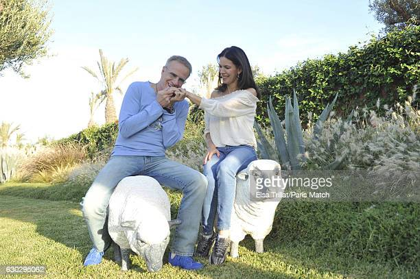 Actor Christophe Lambert is photographed with his fiancee Karima ZerkaniRaynal for Paris Match on November 11 2016 in Marrakech Morocco