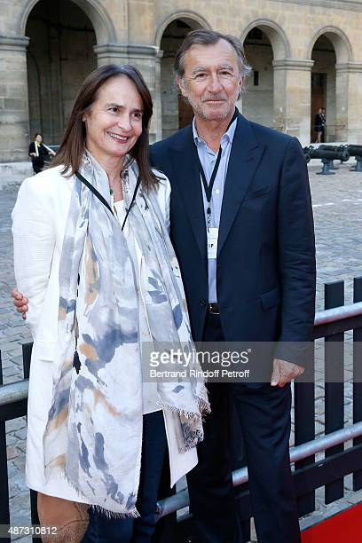 Actor Christophe Malavoy and his wife Isabelle attend 'La Traviata' Opera en Plein Air produced by Benjamin Patou and 'Moma Event' Held at Hotel Des...