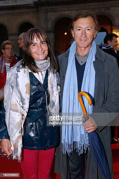 Actor Christophe Malavoy with his wife Isabelle attend 'Opera En Plein Air' Gala with 'La flute enchantee' by Mozart play at Hotel Des Invalides on...