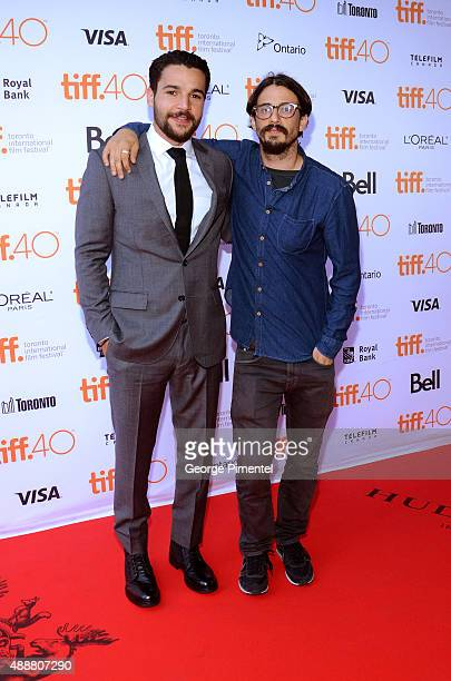 Actor Christopher Abbott and director Josh Mond attend the James White photo call during the 2015 Toronto International Film Festival at Ryerson...