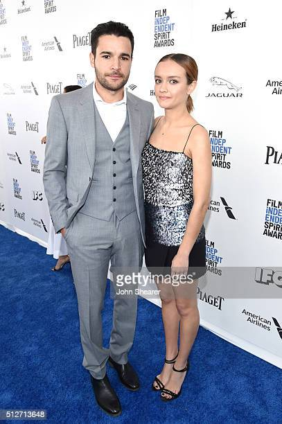 Actor Christopher Abbott and guest attend the 2016 Film Independent Spirit Awards on February 27 2016 in Santa Monica California