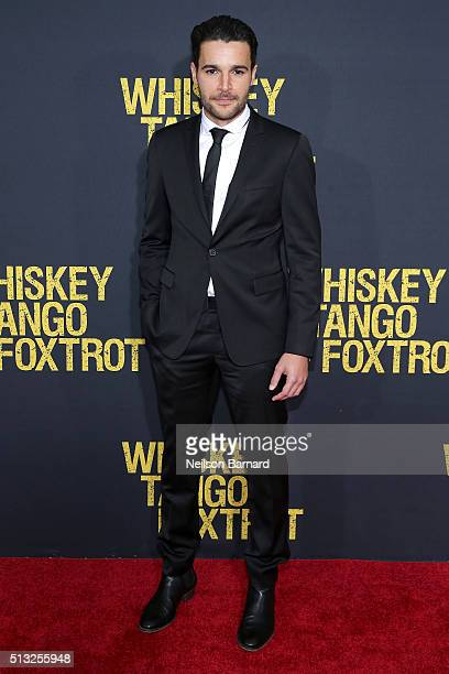 Actor Christopher Abbott attends the World Premiere of the Paramount Pictures title Whiskey Tango Foxtrot on March 1 2016 at AMC Loews Lincoln Square...