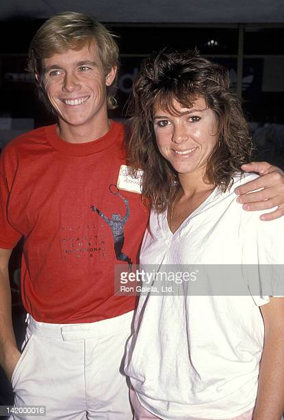 Actor Christopher Atkins and actress Kristy McNichol attend the Searle Charity Tennis Invitational on October 23, 1988 at the Industry Hills and...