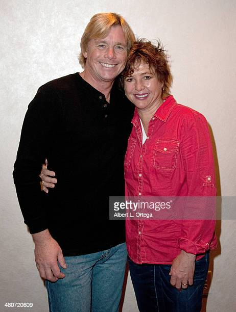 Actor Christopher Atkins and actress Kristy McNichol attend The Hollywood Show at Lowes Hollywood Hotel on January 4 2014 in Hollywood California
