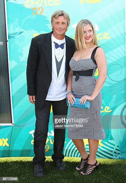 Actor Christopher Atkins and daughter Brittney Bomann arrive at the 2009 Teen Choice Awards held at Gibson Amphitheatre on August 9 2009 in Universal...