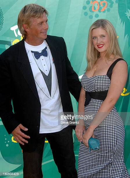 Actor Christopher Atkins and daughter Brittney Bomann arrives at the Teen Choice Awards 2009 held at the Gibson Amphitheatre on August 9 2009 in...
