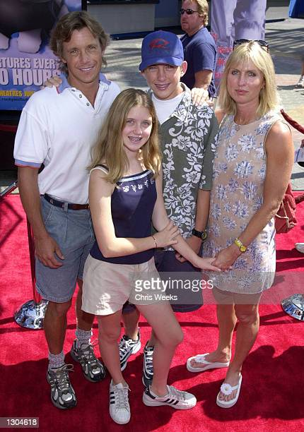 Actor Christopher Atkins and family attend the premiere of Rocky Bullwinkle June 24 2000 at Universal City CA