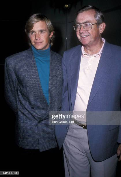 Actor Christopher Atkins and father Donald Bomann attend Lorna Luft's Opening Night Singing Engagement on October 3 1989 at the Cinegrill Hollywood...