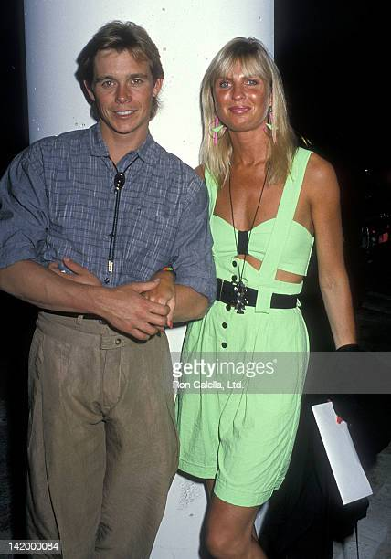Actor Christopher Atkins and wife Lyn Barron attend Greg Gorman's 40th Birthday Party on June 29 1989 at Tramps in West Hollywood California