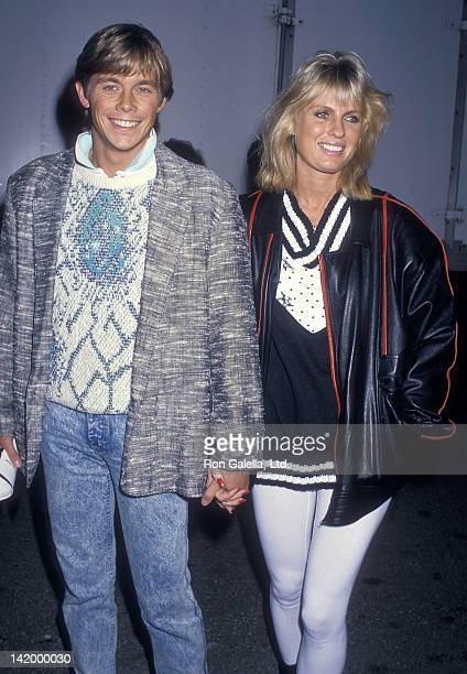 Actor Christopher Atkins and wife Lyn Barron attend the And God Created Woman Century City Premiere on March 1 1988 at the Darryl F Zanuck Theatre...