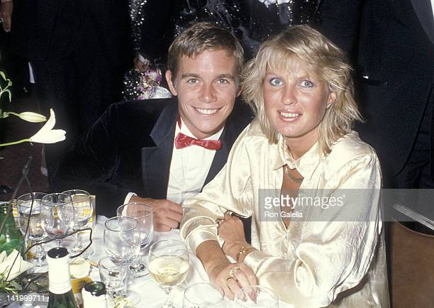 Actor Christopher Atkins and wife Lyn Barron attend the First Annual Commitment to Life Gala to Benefit AIDS Project Los Angeles on September 19 1985...