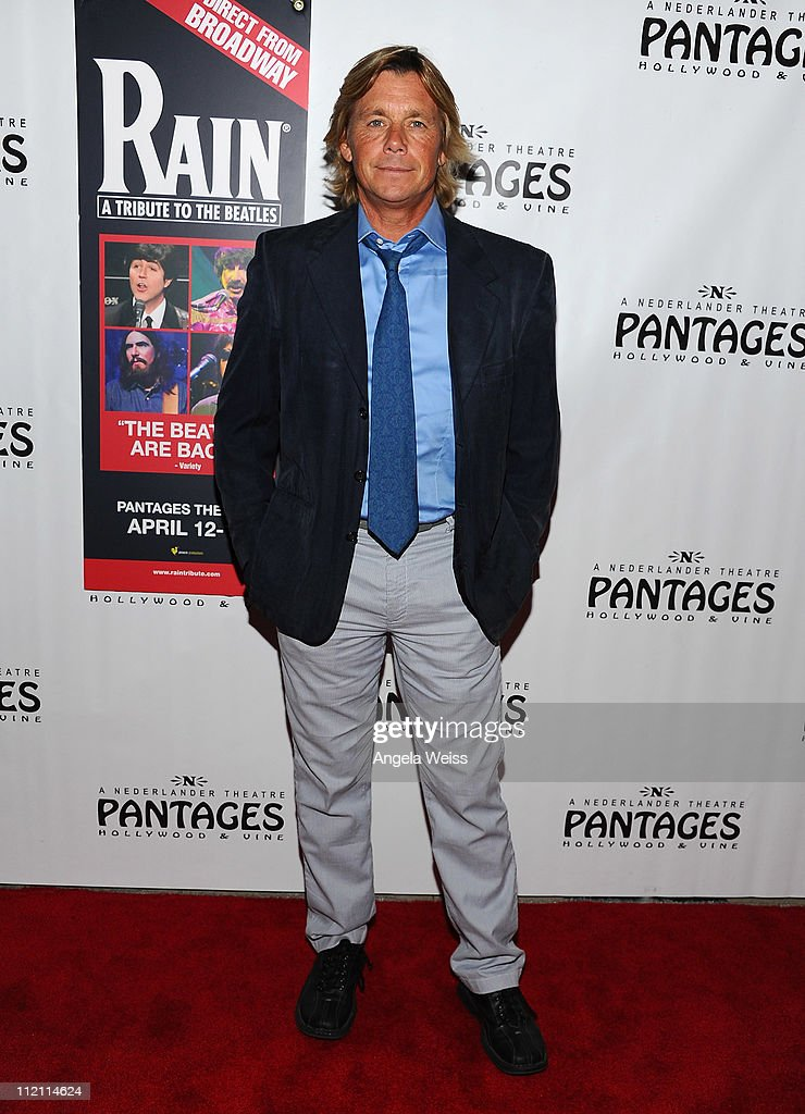 Actor Christopher Atkins arrives at the opening night of 'Rain- A Tribute To The Beatles' at the Pantages Theatre on April 12, 2011 in Hollywood, California.
