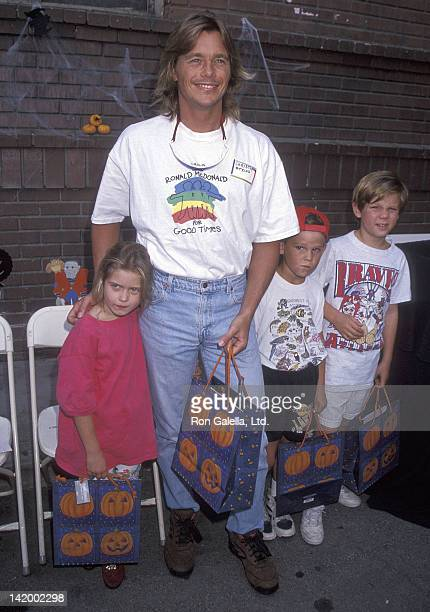 Actor Christopher Atkins, daughter Brittney Bomann and son Grant Bomann attend the First Annual Camp Ronald McDonald for Good Times Family Halloween...