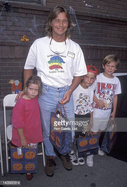 Actor Christopher Atkins daughter Brittney Bomann and son Grant Bomann attend the First Annual Camp Ronald McDonald for Good Times Family Halloween...