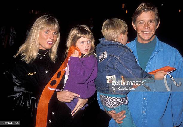 Actor Christopher Atkins wife Lyn Barron daughter Brittney Bomann and son Grant Bomann attend the Teenage Mutant Ninja Turtle's Coming Out of Their...
