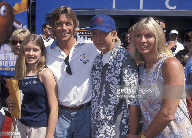 """Actor Christopher Atkins, wife Lyn Barron, daughter Brittney Bomann and son Grant Bomann attend """"The Adventures of Rocky & Bullwinkle"""" Universal City..."""